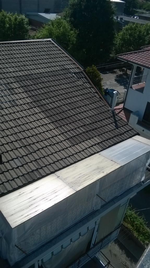 rinforzo strutturale copertura - prima